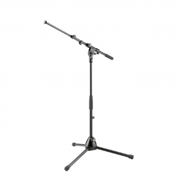 K&M 259 Short Microphone Stand with Telescopic Boom - Black